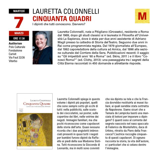 Conversazioni sull'arte con Lauretta Colonnelli