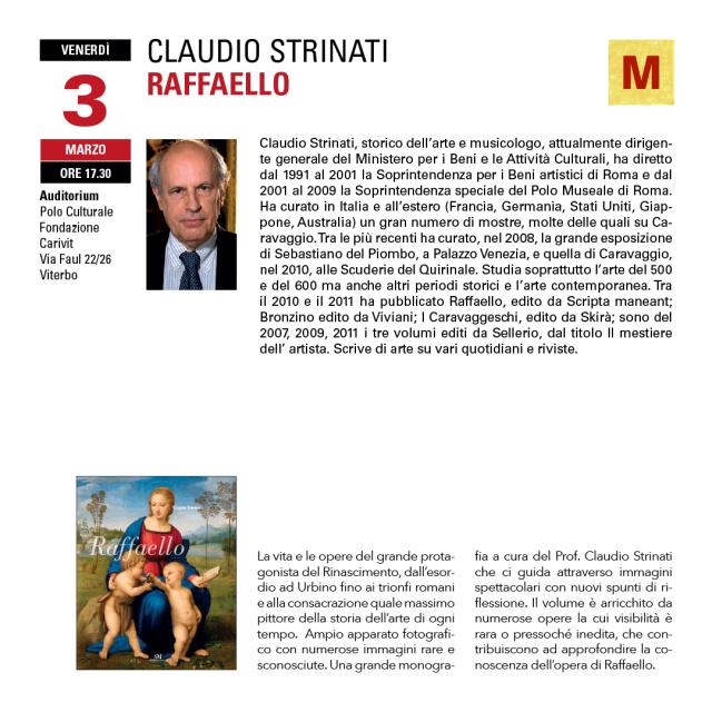 Claudio Strinati - conferenze sull'arte